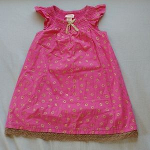 Size 4 girls pink and gold dress